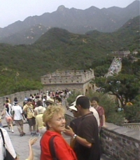 Mary Alice walking on the Great Wall